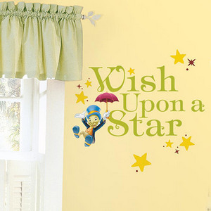 Popular Characters Multicolor Wish Upon a Star Peel and Stick Wall Decal