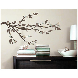 Deco Multicolor Mod Branch Peel and Stick Wall Decal