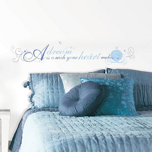 Popular Characters Blue Cinderella A Dream is a Wish Peel and Stick Wall Decal