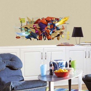 Popular Characters Multicolor Big Hero 6 Wall Graphix Peel and Stick Giant Wall Decal
