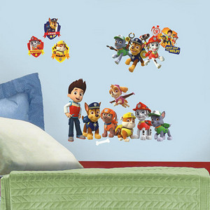 Popular Characters Multicolor Paw Patrol Peel and Stick Wall Decal