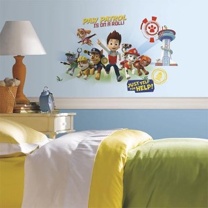 Popular Characters Multicolor Paw Patrol Wall Graphix Peel and Stick Giant Wall Decal