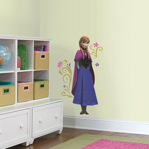 Popular Characters Blue Frozen's Anna with Cape Giant Peel and Stick Wall Decal