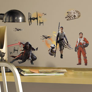 Star Wars Multicolor Ep VII Ensemble Cast Wall Decals