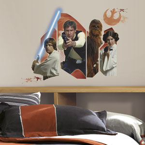 Star Wars Multicolor Classic Burst Giant Wall Decal