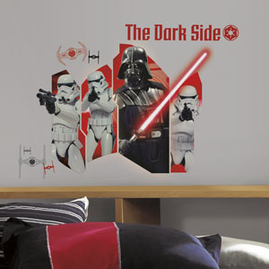Star Wars Multicolor Classic Darth Vader and Stormtroopers Wall Graphic