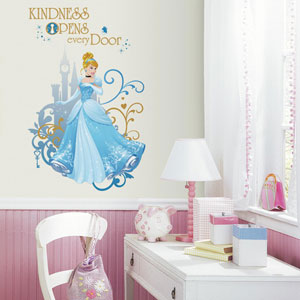 Disney Princess Cinderella Peel and Stick Giant Wall Graphic