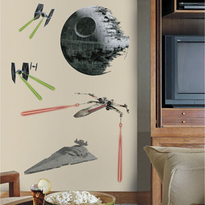 Star Wars Multicolor Classic Ships Giant Wall Decals