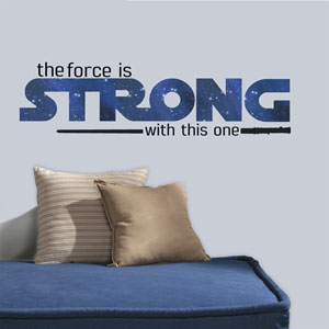 Star Wars Multicolor Classic The Force Is Strong Wall Decals