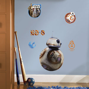 Star Wars Multicolor Ep VII BB-8 Giant Wall Decal