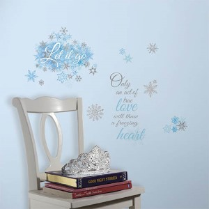 Popular Characters Blue Frozen Let It Go Peel and Stick Wall Decal