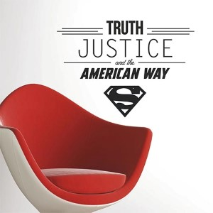 Popular Characters Black Superman Quote Peel and Stick Wall Decal