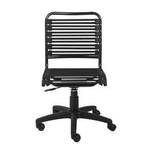 Allison Flat Black Bungie Low Back Office Chair