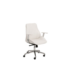 Bergen White Low back Chair