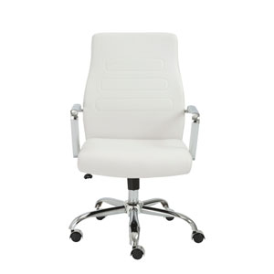 Fenella White Office Chair