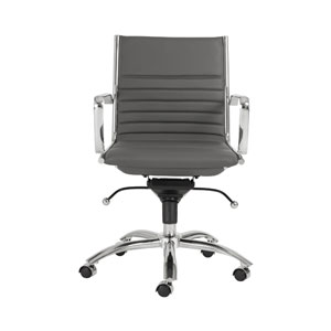 Dirk Gray Low Back Office Chair