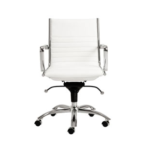 Dirk White Low Back Office Chair