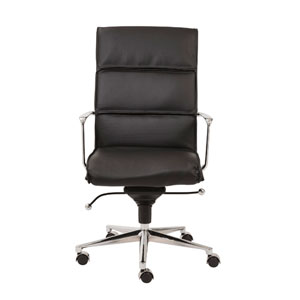 Leif Black Leatherette High Back Office Chair