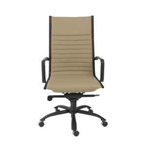 Dirk Taupe High back Chair