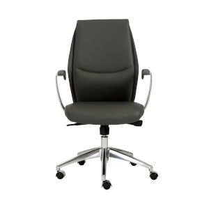 Crosby Gray 26-Inch Low Back Office Chair