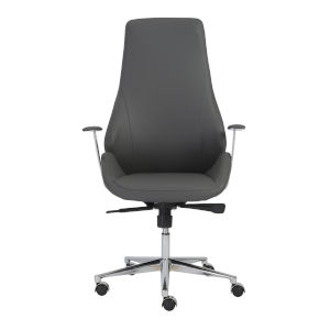 Bergen Gray 27-Inch High Back Office Chair
