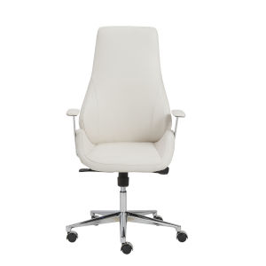 Bergen White 27-Inch High Back Office Chair