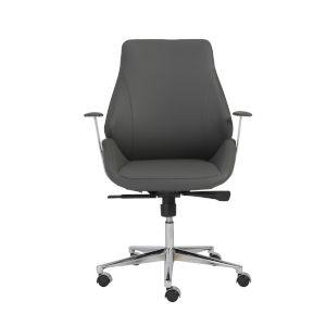 Bergen Gray 27-Inch Low Back Office Chair