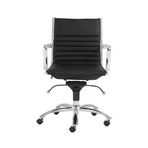 Dirk Black 27-Inch Low Back Office Chair