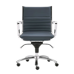 Dirk Blue 27-Inch Low Back Office Chair