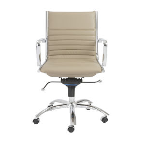 Dirk Taupe 27-Inch Low Back Office Chair