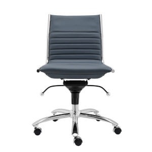 Dirk Blue 26-Inch Low Back Armless Office Chair