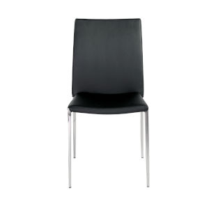 Diana Black Stacking Side Chair, Set of Two