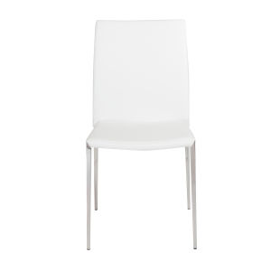 Diana White 18-Inch Stacking Side Chair, Set of 4
