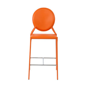 Isabella Orange 19-Inch Counter Stool, Set of 2