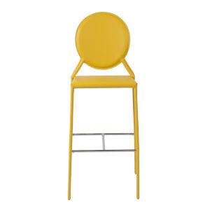 Isabella Yellow 20-Inch Bar Stool, Set of 2