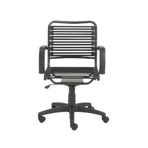 Bungie Black 25-Inch Flat Mid Back Office Chair