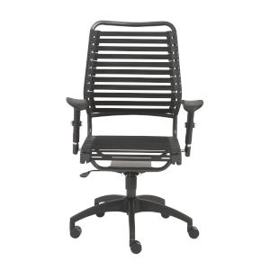 Baba Black 27-Inch Flat High Back Office Chair