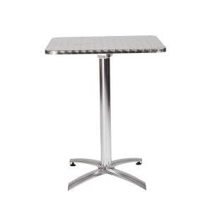 Arden Silver 24-Inch Square Dining Table