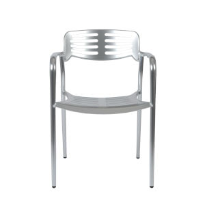 Helen Silver 22-Inch Arm Chair, Set of 4