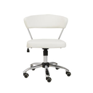 Draco White 24-Inch Office Chair