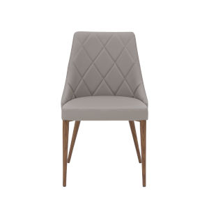 Olin Taupe 21-Inch Side Chair, Set of 2