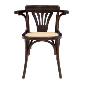 Adna Walnut 24-Inch Arm Chair