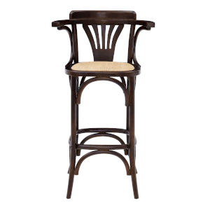 Adna Walnut 24-Inch Bar Stool