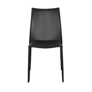 Dalia Black 19-Inch Pro Stacking Side Chair, Set of 4
