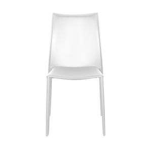 Dalia White 19-Inch Pro Stacking Side Chair, Set of 4