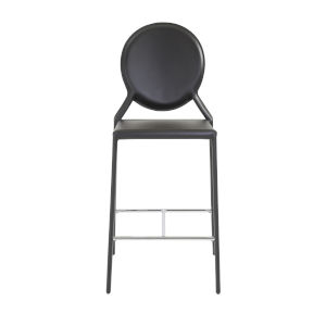 Isabella Black 20-Inch Counter Stool, Set of 2