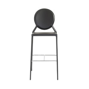 Isabella Black 19-Inch Bar Stool, Set of 2