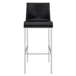 Cam Black 17-Inch Bar Stool, Set of 2