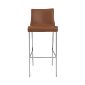 Cam Cognac  17-Inch Bar Stool, Set of 2