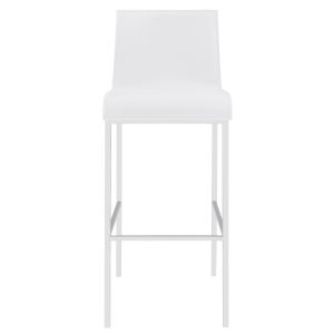 Cam White 17-Inch Bar Stool, Set of 2